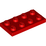 [New] Plate 2 x 4, Red. /Lego. Parts. 3020